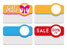Label, Tag, Sticker and Card Template Royalty Free Stock Image