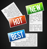 Labels with text field Royalty Free Stock Photo