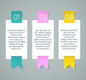 Labels. Three cards with numbers and sample text for a cool presentation. EPS10 Royalty Free Stock Photo