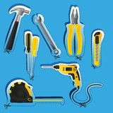 Labels of tools Royalty Free Stock Images