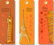 Labels for travel around the world,vector Stock Images