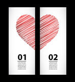 Labels for valentine's day Royalty Free Stock Image