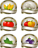 Labels for vegetable products Royalty Free Stock Photos