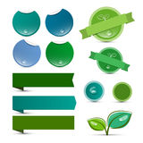Labels vides de vert de produit naturel de vecteur Photo stock