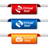 Labels for virtual tour Royalty Free Stock Photo