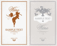 Labels for wine Royalty Free Stock Photo