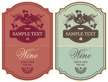Labels for wine Stock Image