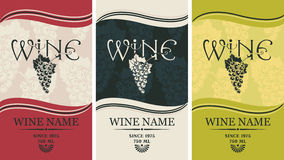 Labels for wine Stock Images