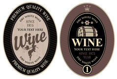 Labels for wine Royalty Free Stock Images