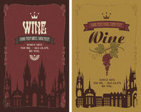 Labels for wine Stock Photo