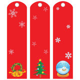 Labels winter holidays Royalty Free Stock Photo