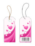 Labels With Hearts Design Stock Photo