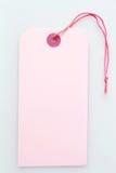 Labeltag rosado Foto de archivo libre de regalías