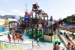 Laberint Pitara attraction at Illa Fantasia Water Park Stock Photos