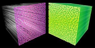 laberinto 3D Fotos de archivo libres de regalías