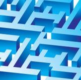 Laberinto azul del vector Fotos de archivo libres de regalías