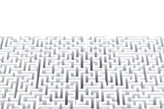 Laberinto blanco abstracto con el copyspace Aislado en blanco Contiene la trayectoria de recortes stock de ilustración
