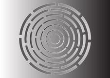 Laberinto circular ilustración del vector