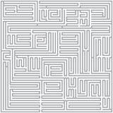 Laberinto cuadrado (gris) Stock de ilustración