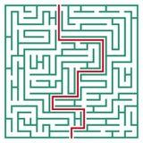 Laberinto cuadrado 21x21 (verde) Fotografía de archivo libre de regalías