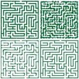 Laberinto cuadrado verde cuatro (16x16) Foto de archivo libre de regalías