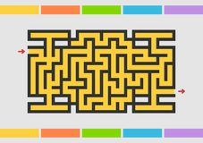 Laberinto de Abstact Juego para los cabritos Rompecabezas para los niños Enigma del laberinto Ilustración del vector del color ilustración del vector