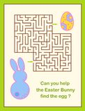 Laberinto de la caza del huevo de Pascua o juego del laberinto para los niños Imágenes de archivo libres de regalías