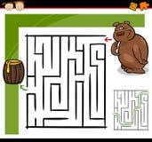 Laberinto de la historieta o juego del laberinto Imágenes de archivo libres de regalías