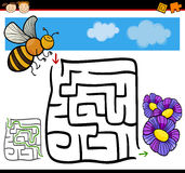 Laberinto de la historieta o juego del laberinto Imagen de archivo libre de regalías