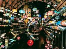 Laberinto de las lámparas Foto de archivo libre de regalías