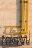 Laberinto de los contadores de gas natural Fotos de archivo