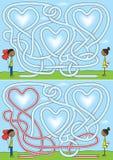 Laberinto del amor stock de ilustración
