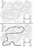 Laberinto del aro de Hula stock de ilustración