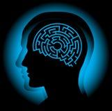 Laberinto del cerebro Foto de archivo libre de regalías