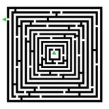 Laberinto del cubo Imagen de archivo libre de regalías