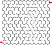 Laberinto del hexágono ilustración del vector
