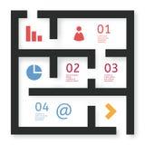 Laberinto del vector Imágenes de archivo libres de regalías