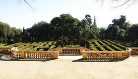 Laberinto en el parque del laberinto de Horta Imágenes de archivo libres de regalías