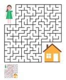 Laberinto, enigma del laberinto para los niños ilustración del vector