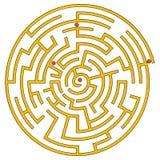 Laberinto espiral amarillo Stock de ilustración
