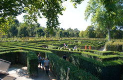 Laberinto hermoso del parque en Schoenbrunn, Viena Fotografía de archivo libre de regalías