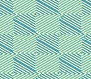 Laberinto isométrico cuadrado Modelo sin fin del vector abstracto Fotos de archivo libres de regalías