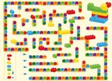 laberinto juguete y bolas plásticos de los ladrillos de los niños manera del hallazgo tal y como se muestra en del plan stock de ilustración