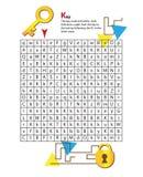 Laberinto K de la letra Esta hoja de trabajo ayuda a niños a reconocer ilustración del vector
