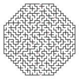 Laberinto octaédrico 30x30 (negro) Fotos de archivo