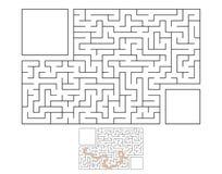 Laberinto rectangular abstracto Juego para los cabritos Rompecabezas para los niños Enigma del laberinto Ejemplo plano del vector libre illustration