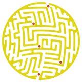 Laberinto redondo (amarillo) Stock de ilustración