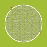 Laberinto redondo grande difícil Juego para los niños y los adultos Rompecabezas para los niños Enigma del laberinto Ejemplo plan libre illustration
