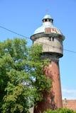 Labiau城市给水塔  Polessk,加里宁格勒地区 图库摄影