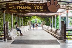 Exiting the Bali Safari & Marine Park after a fun day royalty free stock image